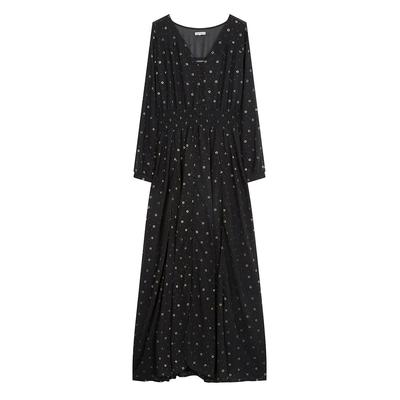 langes Kleid Dorka, in schwarz