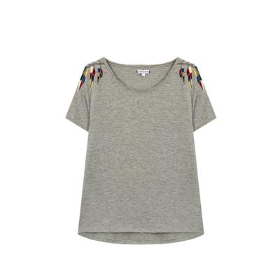 T-shirt Yoko, in grau