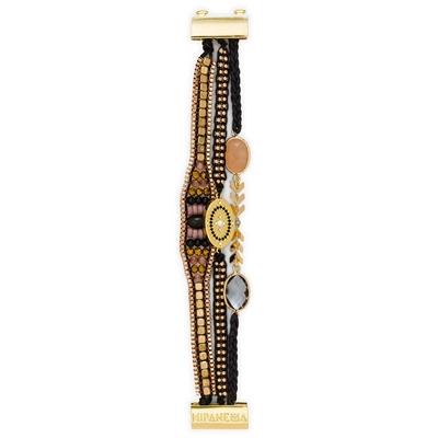 brasilianisches Armband Millie, schwarz golden