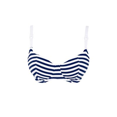 Bügel-Bikini Drift Away, blau weiß gestreift (Oberteil)