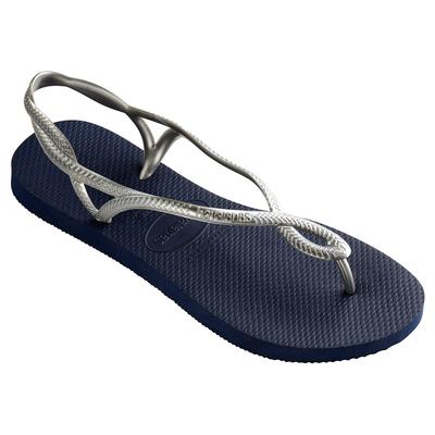 Flip-Flops Luna, marine blau und silber