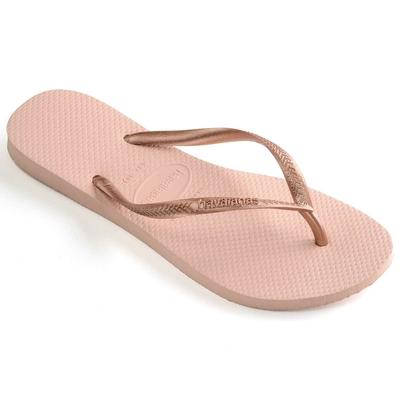 Flip-Flops Slim, rosa und bronzefarben