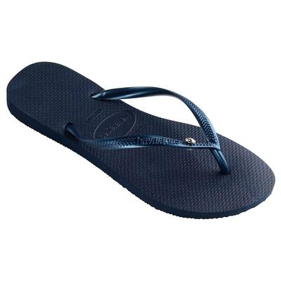 Flip-Flops Swarovski Slim Glamour, marine blau