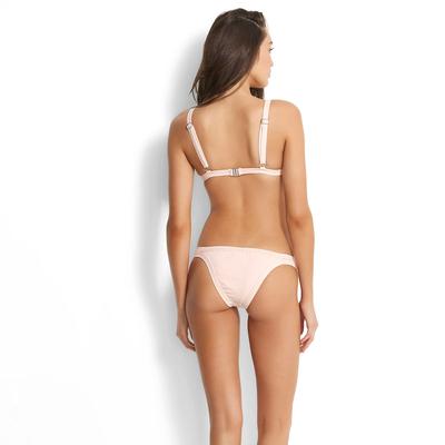Tanga-Bikini Inka Rib, in zart rosa (Hose)