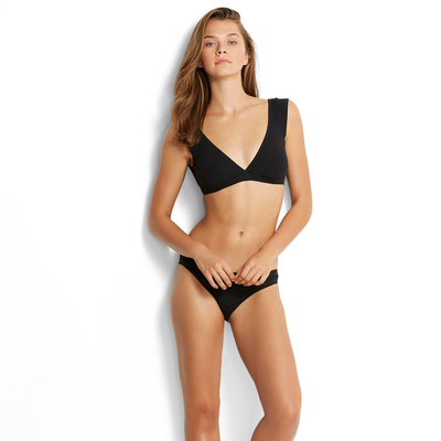 Crop top Bikini Inka Rib, in schwarz (Oberteil)