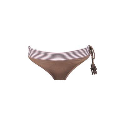 Bikini-Slip Basil in braun mit Revers (Hose)