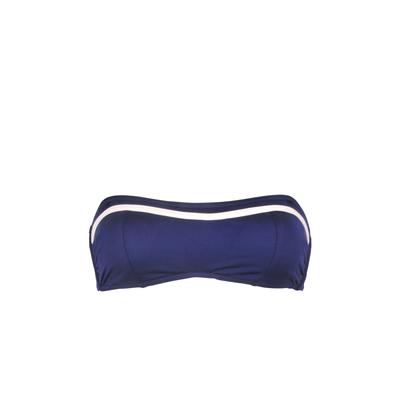 Bandeau-Bikini Transat marine blau (Oberteil)