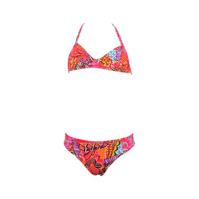 Bikini-set Havana für Mädchen in orange und Ethnoprints