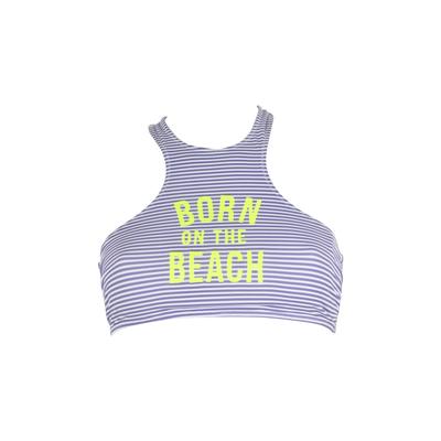 TEENS - Bustier-Bikini Beachstripe blau gestreift (Oberteil)