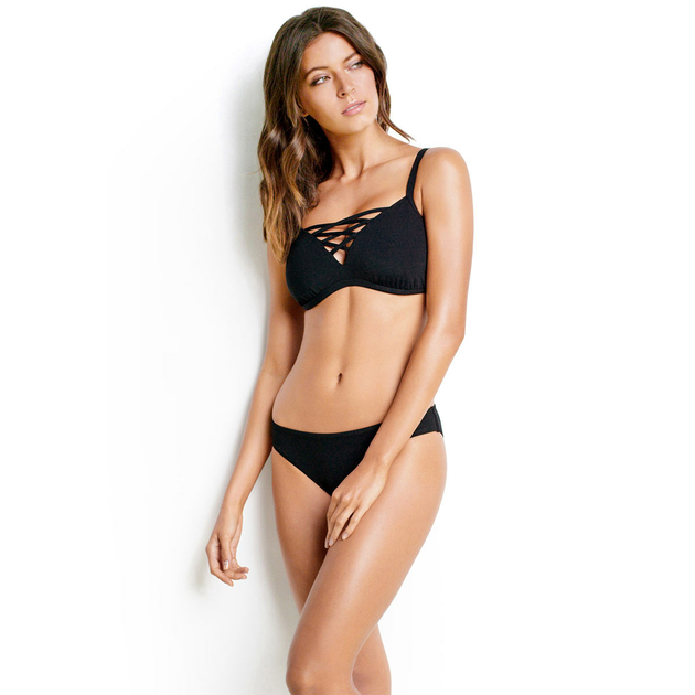 triangel bikini gro e cups schwarz seafolly bademode. Black Bedroom Furniture Sets. Home Design Ideas