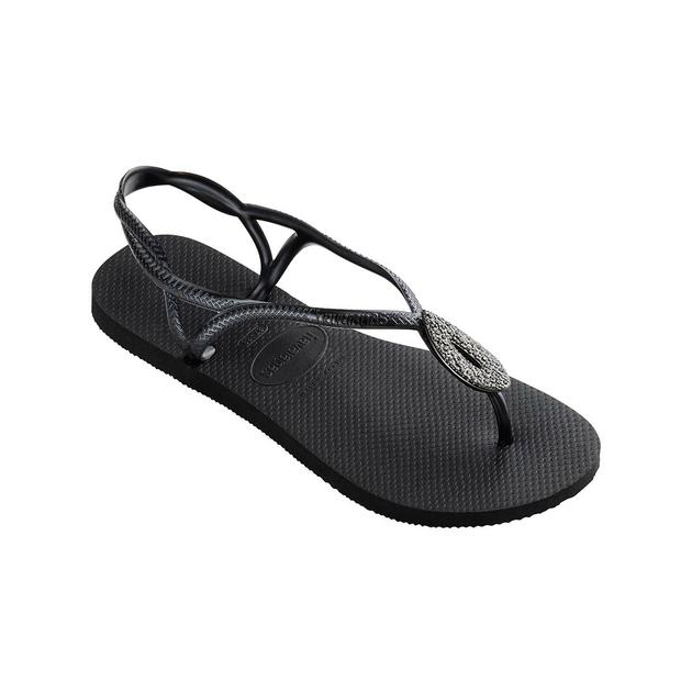 mignonne meilleur authentique vente professionnelle Flip-Flops Luna mit Swarovski-Kristallen, schwarz