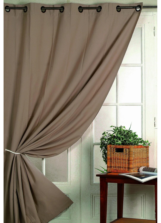 rideau obscurcissant taupe 140x260 rideaux coussins plaids rideaux au carrousel dore. Black Bedroom Furniture Sets. Home Design Ideas