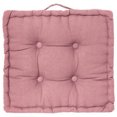 coussin de sol 40x40cm rose rideaux coussins plaids galettes de chaises au carrousel dore. Black Bedroom Furniture Sets. Home Design Ideas