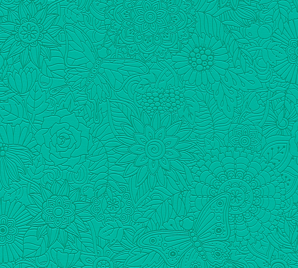 Papier Peint Intisse Mandala Vert