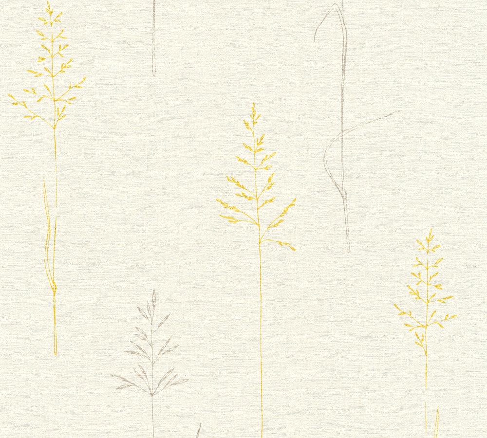 Papier Peint Intissé Liberty Grismoutarde Papiers Peintspapier
