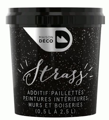Additif Paillettes Argent Strass 25g