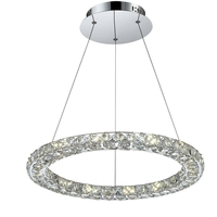 Suspension anneau cristaux Marylin 1xLED