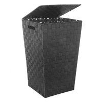 Panier à linge noir H.53 cm