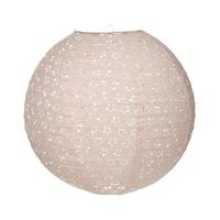 Lanterne boule papier ajouré rose