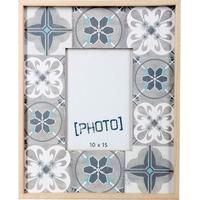 Cadre photo carreaux de ciment 10x15