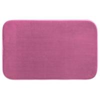 Tapis de salle de bain mémoire de forme rose 50x80cm