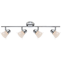 Plafonnier NASHVILLE LED barre chrome double verre