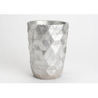 Vase argenté H22cm