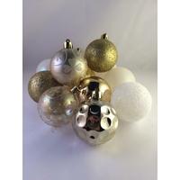 12 boules de Noël NINA dorées