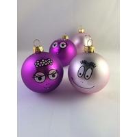 4 boules de Noël BARBAPAPA