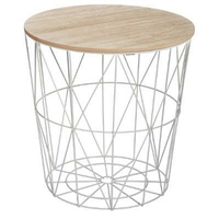 Table d'appoint scandinave gris métal KUMI