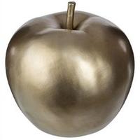 Pomme décoration en résine champagne