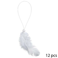 12 plumes + perles à suspendre blanches