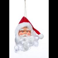 Suspension plastique tête papa Noël