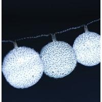 Guirlande 10 boules blanches à piles