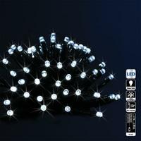 Guirlande extérieure programmable à piles Blanc 192 LED