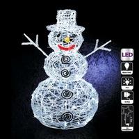 Bonhomme de neige extérieur lumineux 3D 96LED blanc