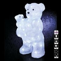 Maman ours + bébé ours lumineux extérieur 56LED