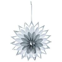 Suspension fleurs paillettes + strass