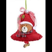 Suspension cloches Père Noël feutrine