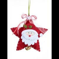 Suspension étoile Père Noël feutrine