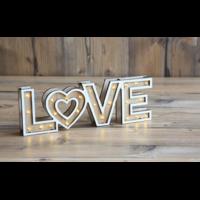 """Mot lumineux en bois """"LOVE"""" 30x10cm"""