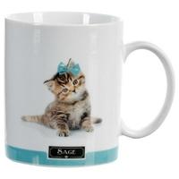 Mug photo chat SAGE bleu 35CL