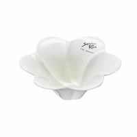 Bougeoir fleur blanc brillant
