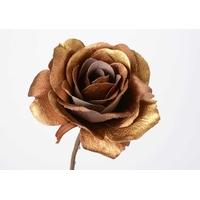 Fleur rose métallic or H60cm