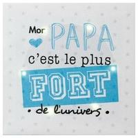 """Toile LED 16x16 - """"Mon papa c'est le plus fort de l'univers"""""""