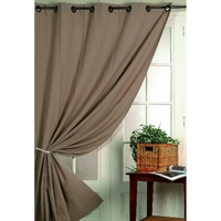 Rideau obscurcissant taupe 140X260