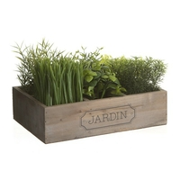 Cagette de plantes grasses artificielles