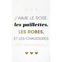 Stickers demoiselle - J'aime le rose, les paillettes, les robes et les chaussures de maman