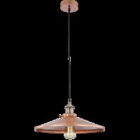 Suspension KNUD cuivrée - ampoule fournie