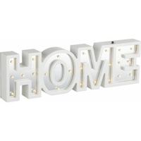 "Mot lumineux blanc/miroir ""HOME"" 38x11cm"